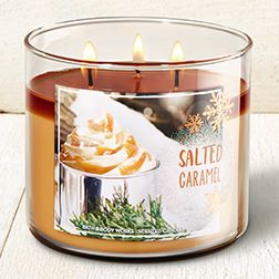 Salted Caramel 3 Wick Candle Home Fragrance 1037181 Bath Body Works Candles Bath Body Works Candles Bath And Body Works
