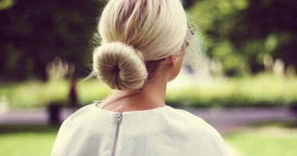 sock bun. Been doing this for years and learned from a girl