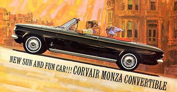 1962 Chevrolet Corvair Monza Convertible Promotional Advertising Poster Chevrolet Corvair Monza Chevrolet