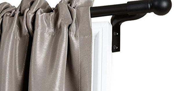 Maytex Smart Rods No Measuring Easy Install Cafe Window Rod 48