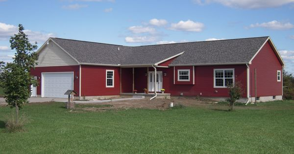 Here 39 s a 1700 sq ft ranch style modular home with a built for Modular 3 car garage