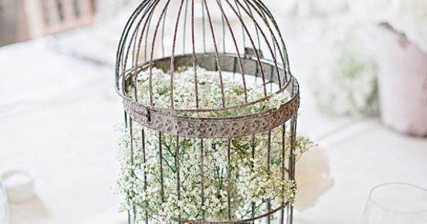Simple Bird Cage Centre Pieces Weddings Pinterest