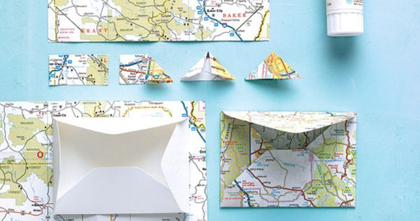 How to use a map to make envelopes and photo corners for