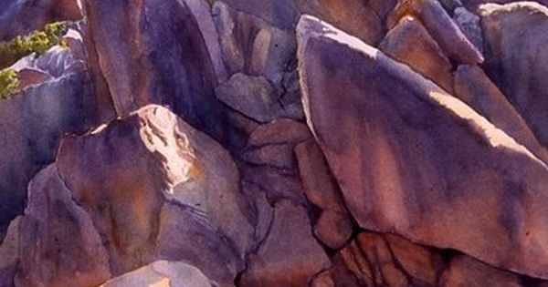 """Sierra Monument"" by Rosanne Seitz. Watercolor. I can almost swear I have"
