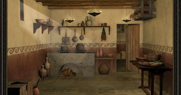 Rome 3d Reconstruction Of A Roman Culina Kitchen