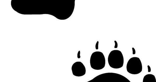 bear footprints template - native american bear paw print