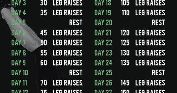 The day leg raise challenge will help you work