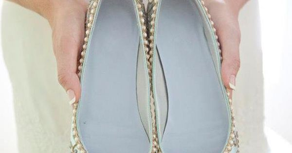 Pretty bridal shoes from Beholden Bridal | onefabday.com | See more about Bridal Shoes, Bridal Flats and Bridal.