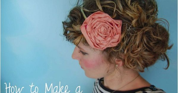 i want curly hair. also this is a super cute DIY Flower