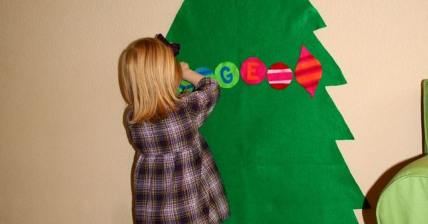Large Felt Christmas Tree for kid's room- keep kids entertained for hours