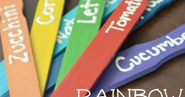 DIY Garden Markers with paint stirrers