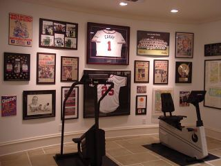 Visions Of His Man Cave Sports Wall Decor Sports Pictures Display Sports Wall Art