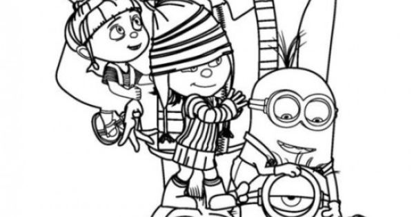 margo edith and agnes coloring pages | Gru Agnes Edith Margo Despicable Me Coloring Pages 550x711 ...