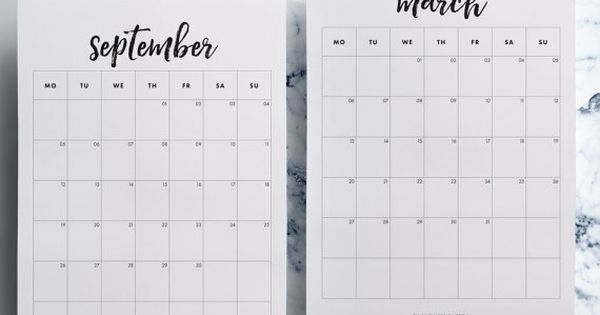 Mid Year Calendar : Mid year month calendar printable
