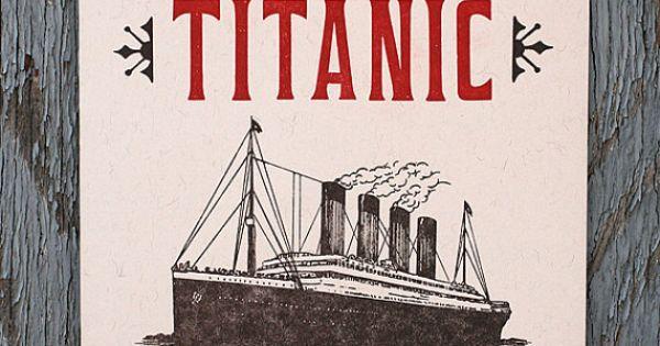 Original Titanic Letter Press