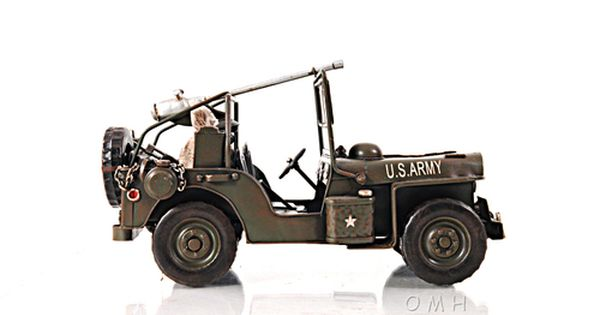 1940 Willys Overland Army Military Jeep Quad Metal Model 11
