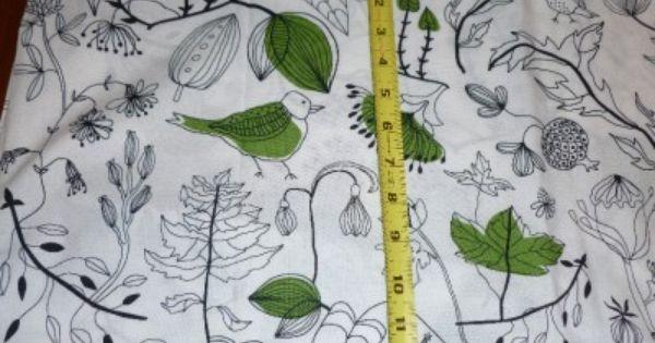 1 Yd New Ikea Bird Fabric Cecilia Cotton Modern Black