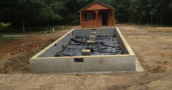 Amish Cabin 14x40 Set And Foundation Mom Pinterest