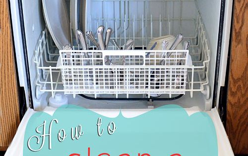 How to clean a dishwasher | I Heart Nap Time - Easy