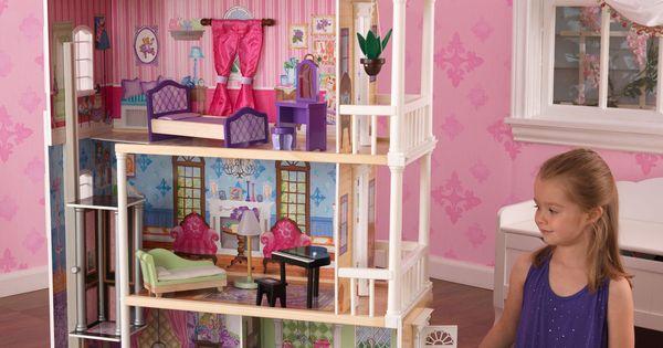 Kidkraft my dreamy dollhouse with furniture 65823 - Casa munecas eurekakids ...