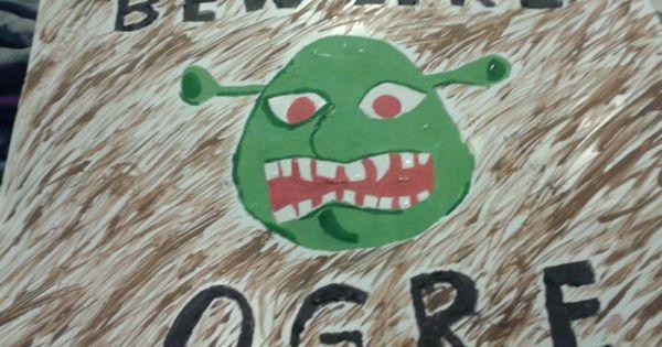 Beware Ogre Shrek Birthday Pinterest