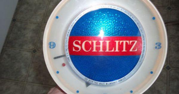 Vintage Original 1961 Schlitz Beer Sign Motion Light Lamp