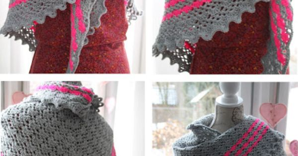 Scalloped Triangle Shawl Crochet Pattern : Crochet shawl, love the scalloped edges! Pattern: http ...