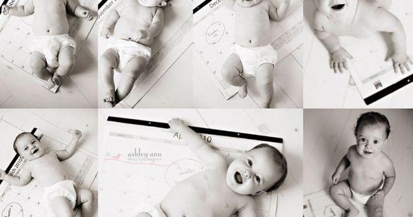 first year photos - cute idea.