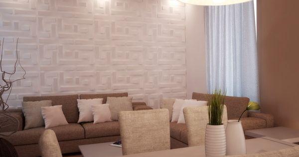 Panel de pared 3d de yeso para interiores falde colecci n - Paneles para paredes interiores ...