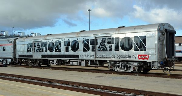 your first look at the station to station art and music tour s actual train marketing. Black Bedroom Furniture Sets. Home Design Ideas