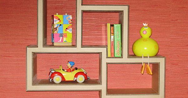 etag re murale pour chambre denfant meubles en carton. Black Bedroom Furniture Sets. Home Design Ideas