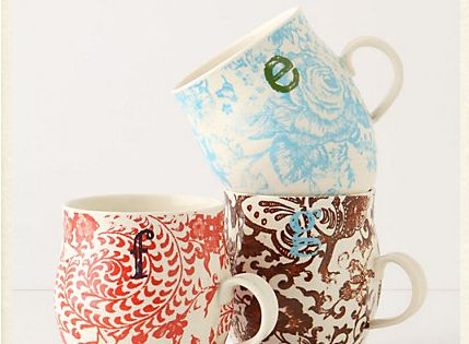 diy anthropology mugs