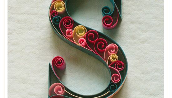 Printable Quilling Patterns The person that designed this quilling alphabet deserves a medal ...