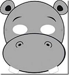Mascara De Hipopotamo Gratis Para Imprimir Com Imagens Caixa