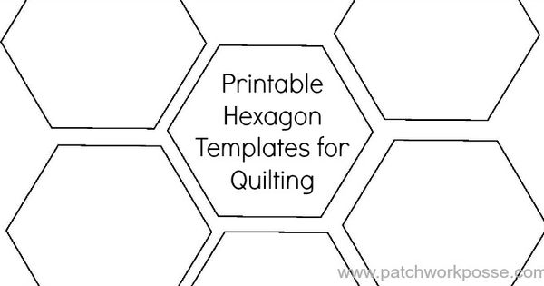 Printable hexagon template for quilting hexagons for Quilting hexagon templates free