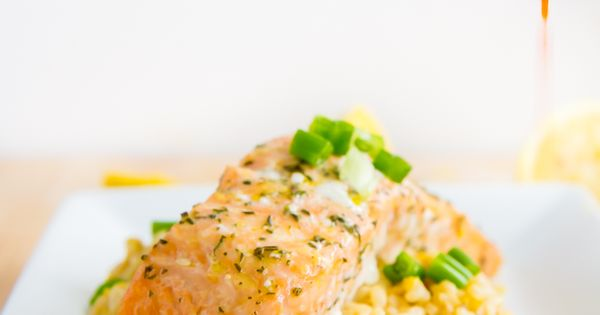 Slow Baked Salmon with Lemon Risotto & Chili OIl | Recipe | Chili oil ...