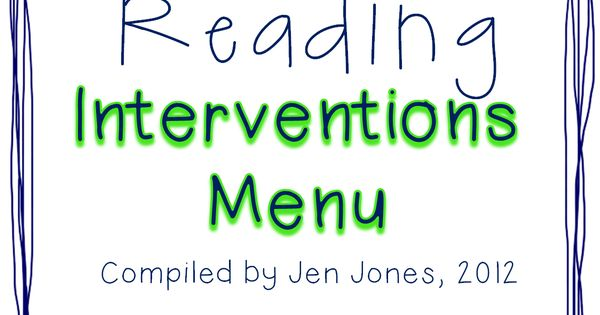 ***I'm pleased to share that as of September 2013, this intervention menu