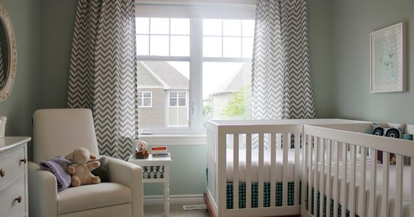 LOVE all the white! Very small room made comfy for twins. Calmly