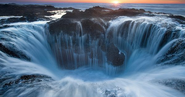 Thor's Well is part of Cape Perpetua, a typical Pacific Northwest headland