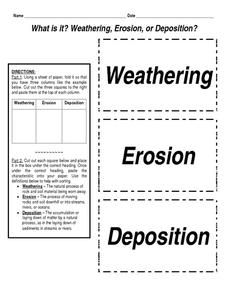 What is it? Weathering, Erosion, or Deposition? Worksheet ...