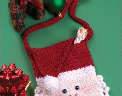 Crochet Christmas Patterns Santa Purse Crochet