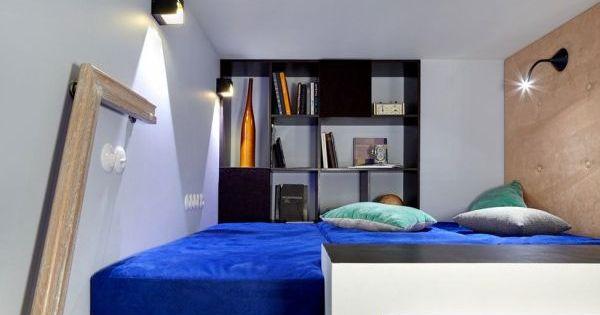 A fun and colorful loft with a creative interior design for Chambre 8m2 paris
