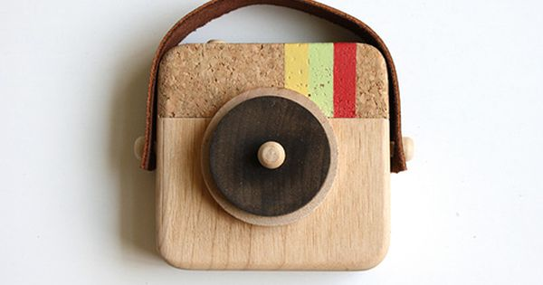 Anagram Wooden Camera Inspired by Instagram by Twig Creative - contemporary -