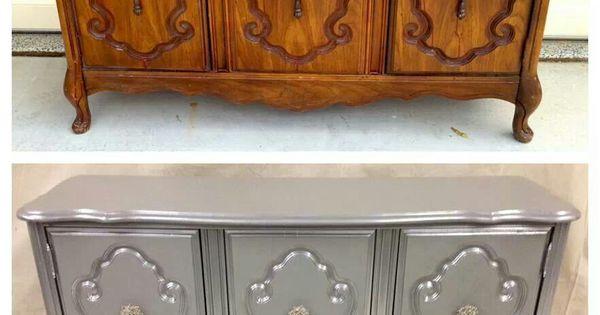 Redo furniture sure looks better hogar pinterest for Como pintar muebles antiguos