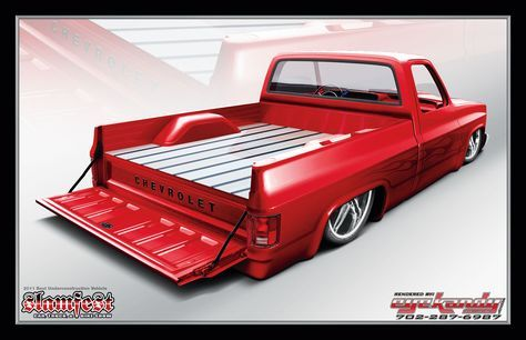 C10 Square Body With Neat Raised Bed Floor Cover Chevy Trucks Silverado C10 Chevy Truck Chevy C10