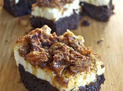 Caramel Apple Cheesecake Brownies @Beth J J Ebin