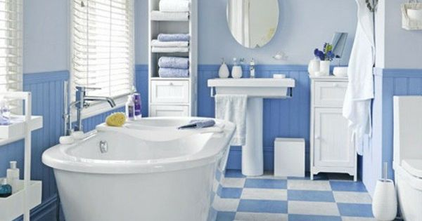 3 Blue White Bathroom   Bathrooms   Pinterest   Pink Bathrooms, Bathroom  Vintage And Black Bathrooms