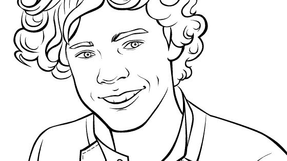 Coloring Pics Of Harry Styles One Direction Coloring Harry Styles Coloring Pages