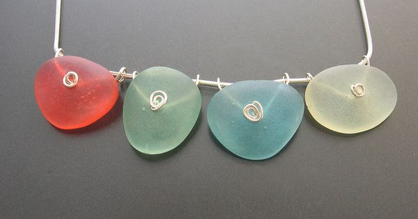 Faux seaglass from Fimo Liquid Polymer Gel ~ by Kathrin Neumaier handmade