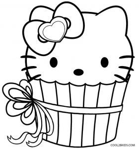 Cupcake Coloring Pages Cupcake Coloring Pages Hello Kitty